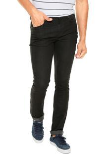 Calça Jeans Lacoste Skinny Lisa Preta