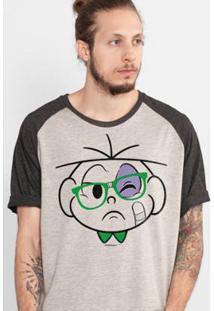 Camiseta Bandup! Raglan Turma Da Mônica Cebolinha Nerd Apanhou Masculina - Masculino