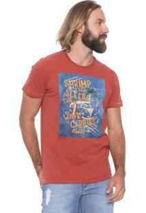 Camiseta Colcci The Wave Laranja