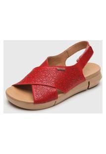 Sandália Bottero Perfuros Vermelha