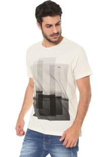 Camiseta Aramis Estampada Bege