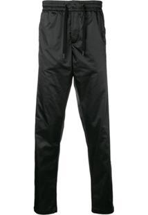 Karl Lagerfeld Nylon Drawstring Trousers - Preto