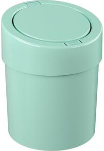 Lixeira Automática- Verde Água- 25,6Xø20Cm- 5L