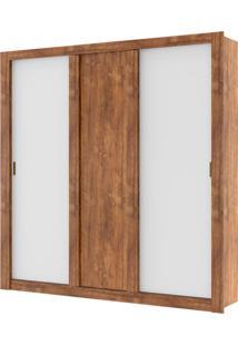 Guarda-Roupa 3 Portas Carraro Elus 1093 Native Branco Se