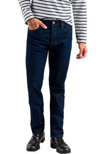Calça Jeans Levis 501 Original Escuro Azul