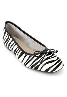 Sapatilha Sofia Feminina Couro Confortável Casual Zebra