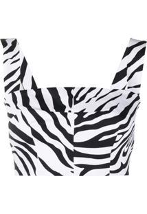 Dolce & Gabbana Blusa Com Estampa De Zebra - Preto