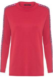 Blusa Feminina Tricot Pull Faixa - Vermelho