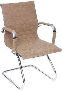 Cadeira Office Eames Esteirinha Retrô- Castanho & Prateaor Design