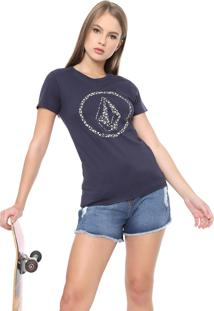 Camiseta Volcom Daisy For You Azul-Marinho