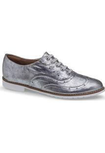 Sapato Oxford Prata Flamarian - 201282-6Pr-Prata-35