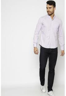 Camisa Lisa Com Bolso- Lilã¡Slevis