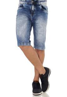 Bermuda Black Jeans Masculina - Masculino-Azul