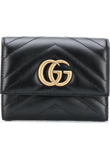 Gucci Carteira Gg Marmont - Preto
