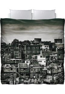 Edredom Colours Creative Photo Decor - Favela Cantagalo No Rio De Janeiro Cinza
