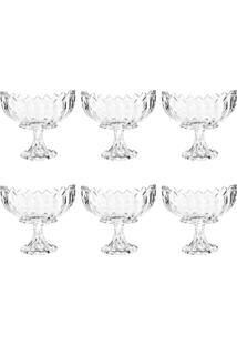 Conjunto Taças De Cristal Para Sobremesa 6 Peças Com Pé Geneva Wolff