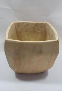 Vaso Cerâmica Estilo Madeira