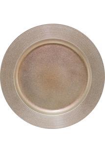 Sousplat Disco Bronze