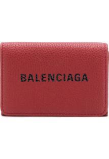 Balenciaga Carteira 'Everyday' Mini - Vermelho