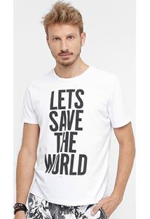 Camiseta Ellus Lets Save The World Masculina - Masculino