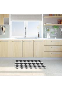 Tapete De Cozinha Mdecore Abstrato P&B 40X60Cm