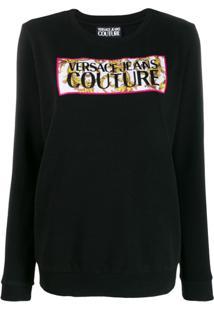 Versace Jeans Couture Moletom Com Logo - Preto