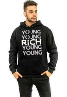 Blusa Rich Young Moletom Preta