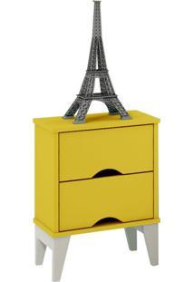 Mesa De Cabeceira Twister 2 Gv Amarela E Branca