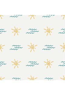 Papel De Parede Adesivo Sol E Nuvem (0,58M X 2,50M)