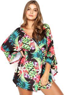 Kimono Blue Man Tropical Preto