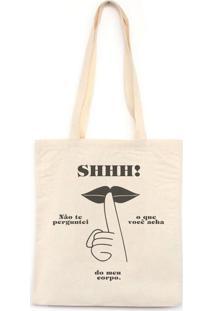 Shhhh - Bolsa De Lona-Off White-U