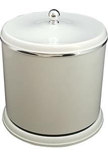 Lixeira Plástica Pequena 5L Para Cozinha Banheiro Com Tampa Branco