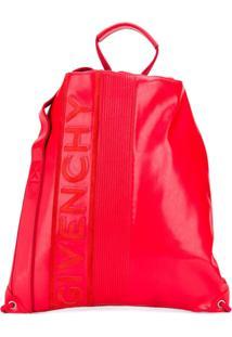 Givenchy Mochila Com Ajuste Por Cordão - Vermelho