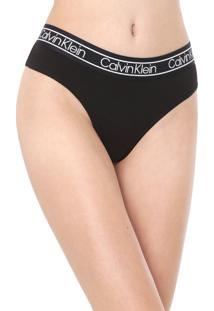 Calcinha Calvin Klein Underwear Tanga Flx Preta