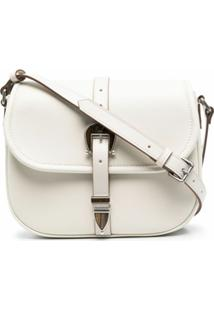 Golden Goose Buckled Leather Shoulder Bag - Neutro