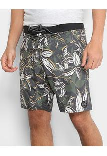 Short Redley Surf Matafloral Masculino - Masculino-Verde Escuro