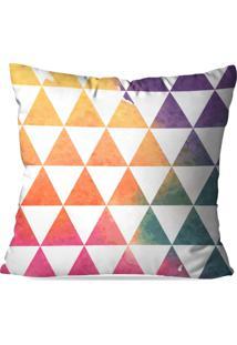 Capa De Almofada Love Decor Triangulos Multicolorido Branco - Kanui