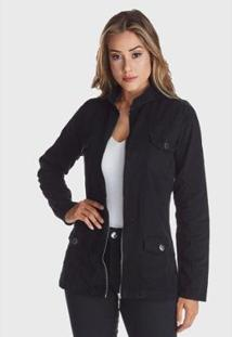 Jaqueta Jeans Hno Jeans Premium Preto - Feminino