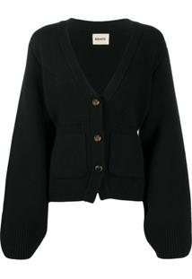 Khaite Cashmere Oversized Cardigan - Preto