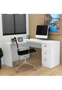 Mesa Para Computador Com 3 Gavetas Me4101 - Tecno Mobili - Branco