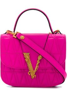 Versace Bolsa Tiracolo Virtus - Rosa