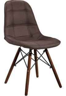 Cadeira Eames Quadra- Marrom & Madeira Escura- 83X44Or Design