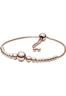 Bracelete Pandora Rose Cordão Esferas