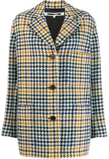 Mcq Swallow Houndstooth Check Coat - Neutro