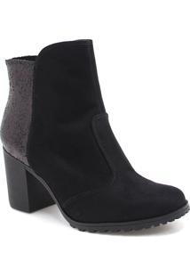 Bota Bebecê Ankle Boot Glitter