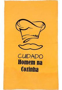 Pano De Copa 40X68Cm Color Amarelo Amarelo