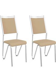 Kit 2 Cadeiras Londres C056 - Kappesberg - Nude