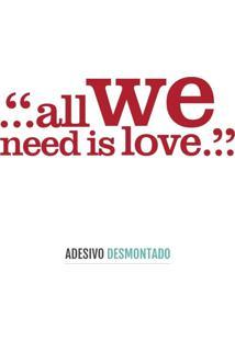Adesivo Decohouse De Parede Love Vermelho