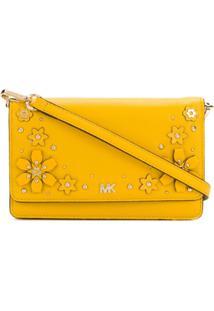 c8d29ab85 Farfetch. Bolsa Transversal Zíper Feminina Amarela Ouro Amarelo Couro ...