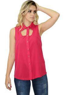 Camisa Moché Botões - Feminino-Rosa